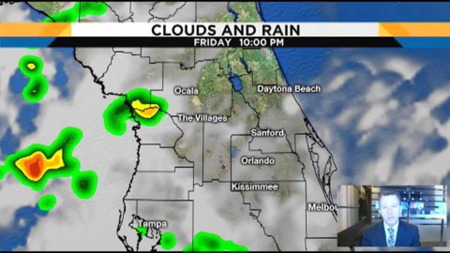 Forecast shows 70 percent chance of rain in Central Florida for Saturday