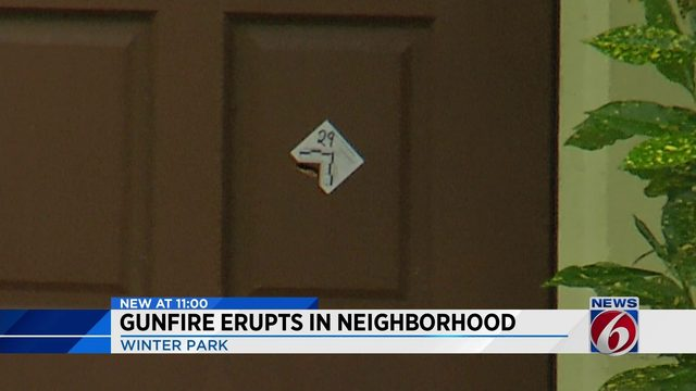 Gunfire erupts in Winter Park neighborhood