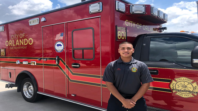 Central Florida man lives out dream of being EMT for Orlando Fire Department