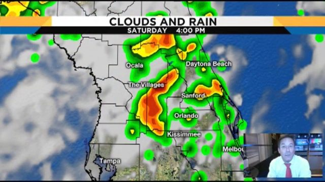 Storms forecasted for the weekend in Central Florida