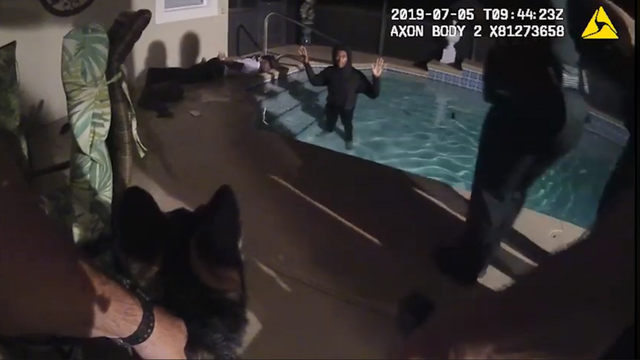 Video: Teens found hiding in pool after stealing car, deputies say