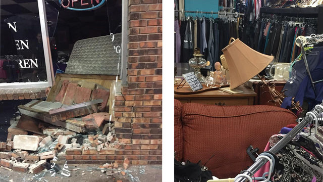 Van crashes into Ocoee consignment shop, driver leaves