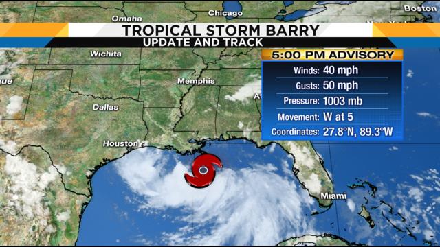 Hurricane warnings issued for parts of Louisiana coastline