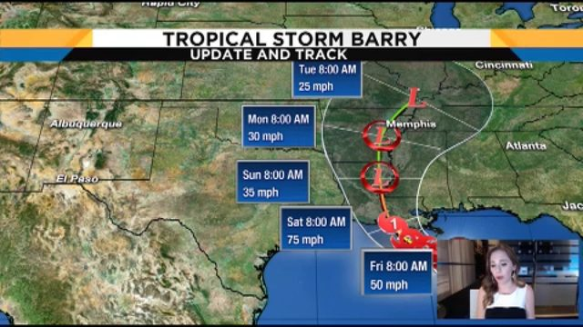 Candace Campos takes close look at TS Barry
