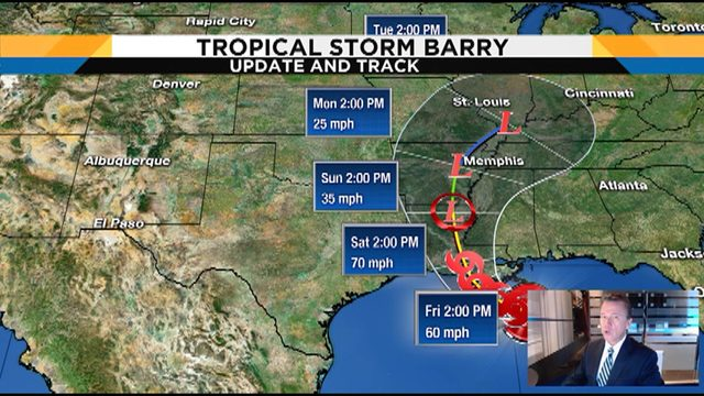 Tracking Tropical Storm Barry, could make landfall on Friday
