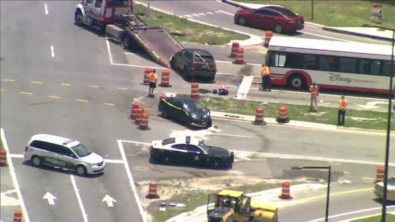 1 adult, 1 child injured in crash involving Disney bus