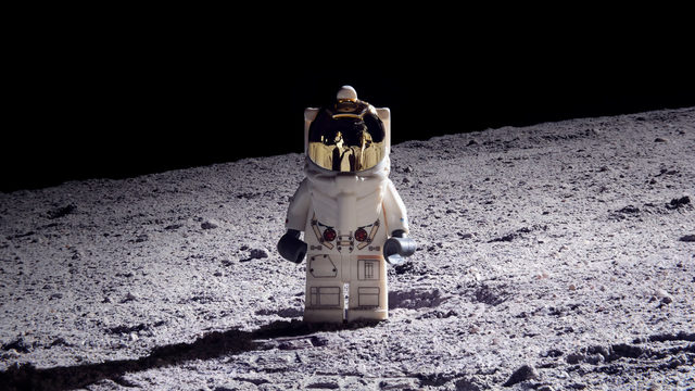 Out of this world: Orlando man recreates moon landing with Lego bricks