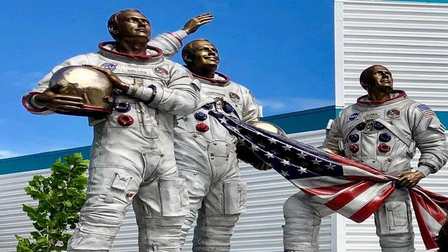 KSC Visitor Complex opens Moon Garden in tribute to astronauts