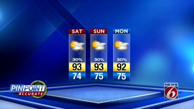News 6 Evening Forecast July 12