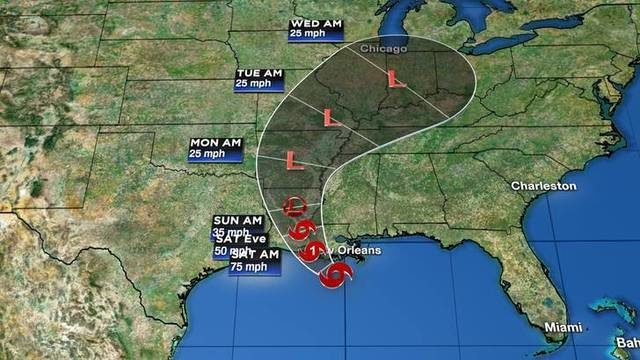 WEATHER UPDATES: Barry expected to hit Louisiana as hurricane