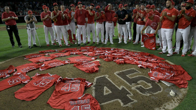 'Angel looking down on us': Inside memorable baseball tribute in Anaheim