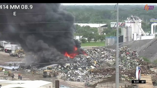 Fire at recycling facility