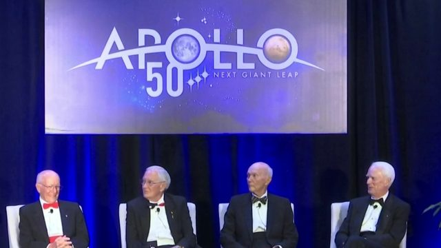 Astronauts reflect on Apollo moon missions in Cocoa Beach