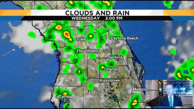Forecast: 50% chance of rain in Central Florida tomorrow