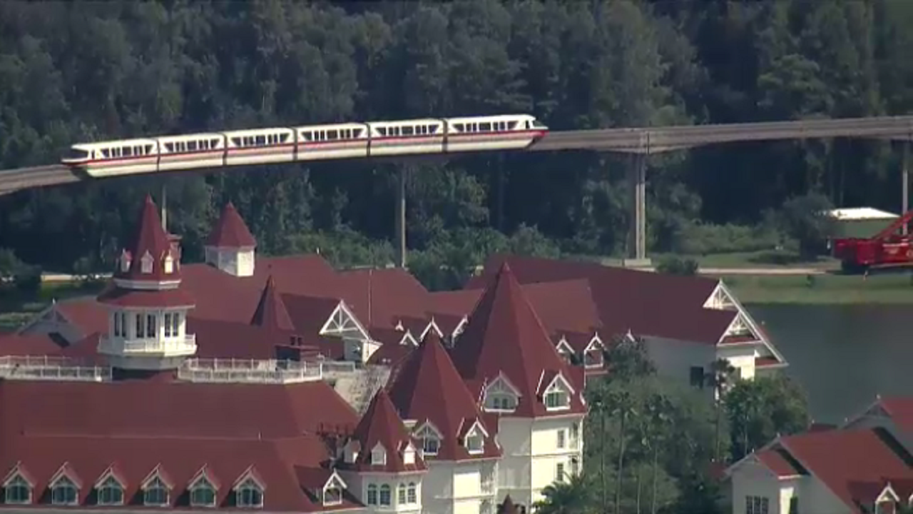 Disney guests spend nearly an hour stuck on monorail
