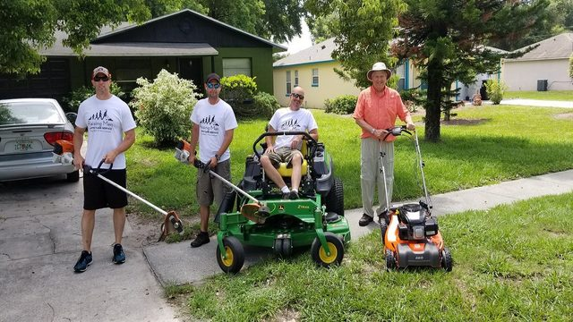 Officers vow to mow lawns for the needy throughout the summer
