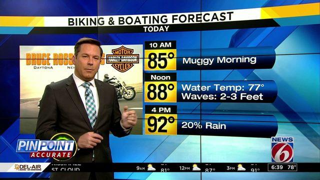 Biking & Boating forecast: Rain chances lower on coast