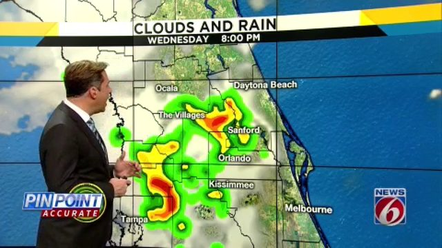 Hot, muggy day leads to increased rain chances