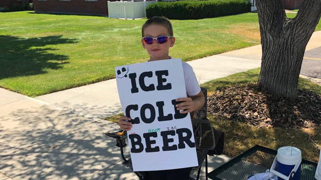 Savvy Utah boy catches attention selling 'ice cold beer'
