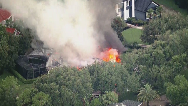 Orange County fire crews fighting blaze at house near Windermere