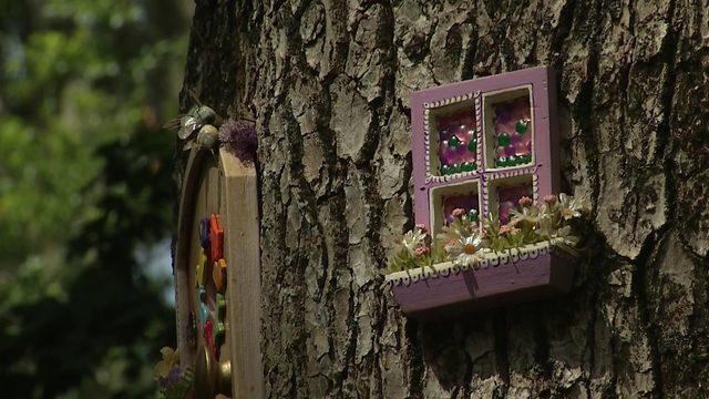 Fairy door exhibit at Leu Gardens