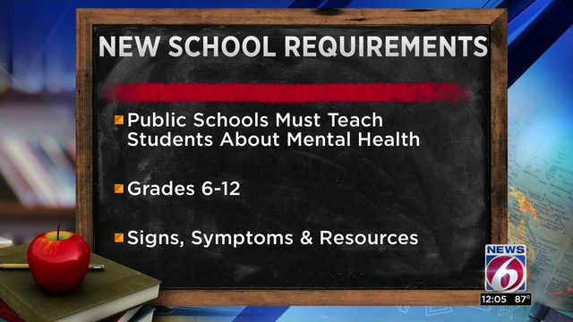 Mental health school requirements