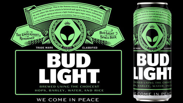 Area 51 Bud Light beer cans will happen if company gets 51K RTs