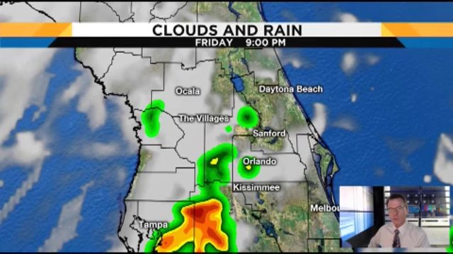 Forecast: 40% chance of rain this weekend in Central Florida