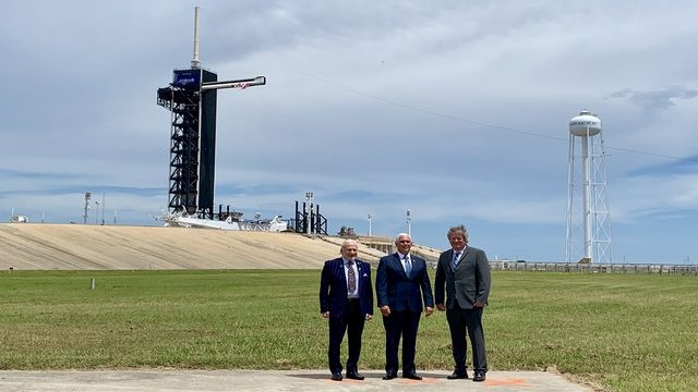WATCH LIVE: Vice President Mike Pence visits Kennedy Space Center