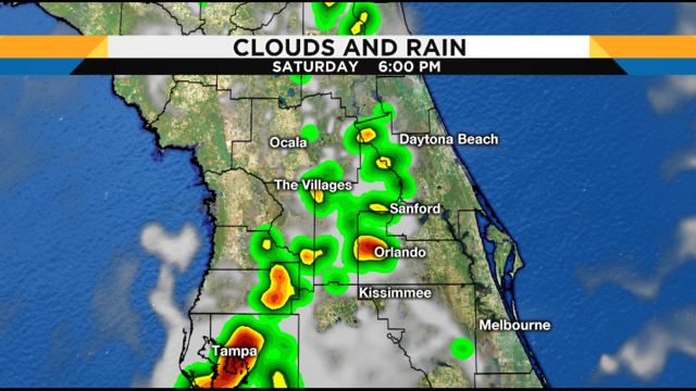 More storms possible Saturday evening in Central Florida