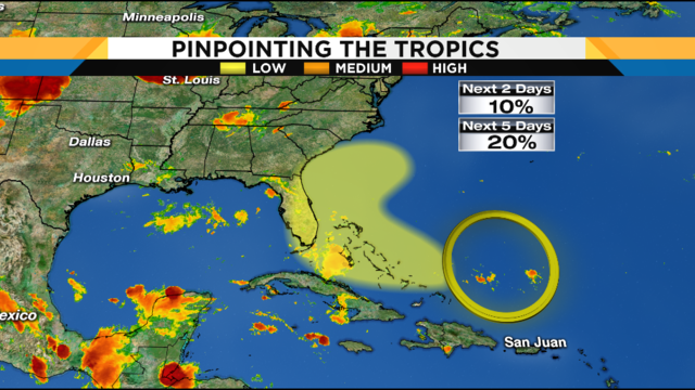More storms Sunday afternoon, new area to watch in the tropics