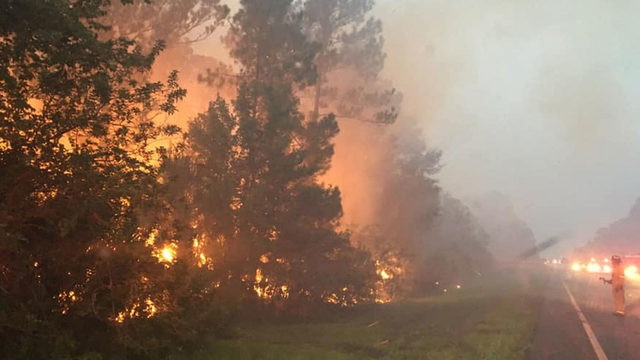 Brush fire forces closure of State Road 407 in Brevard