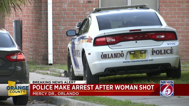 Police make arrest after woman shot in Orlando