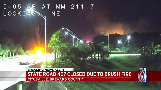 State Road 407 closed due to Brush fire