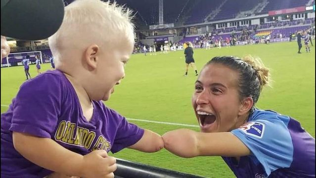 'We have the same arm!' Photo of Orlando soccer player, fan goes viral