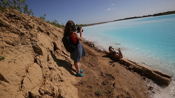 People are flocking to this stunning turquoise lake -- there's just one…