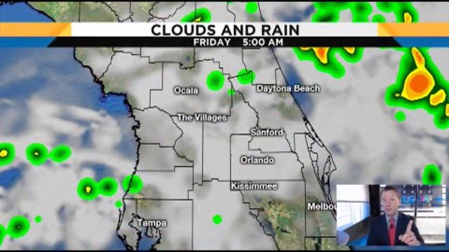 Storms continue in Central Florida on Friday