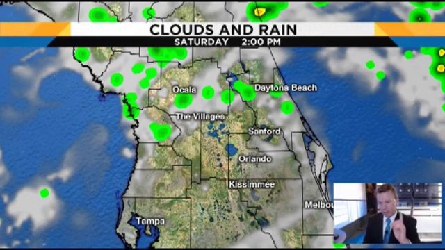 Forecast shows 60% chance of rain this weekend