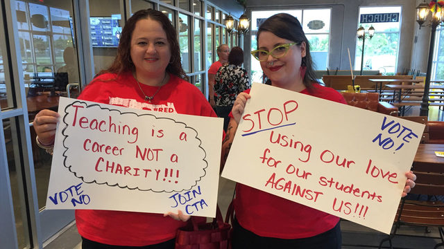 Orange County teachers rally to reject new deal between union, school district