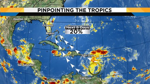 Tropical wave being monitored as it sets its sights on Florida