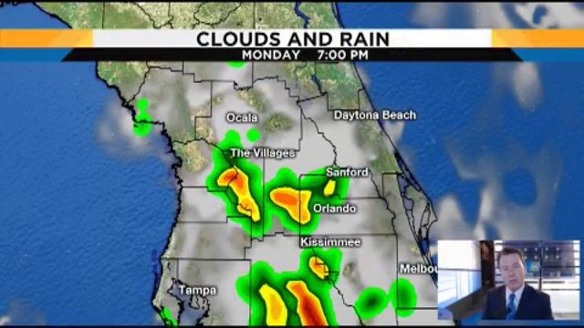 Rain chances build throughout the week in Central Florida