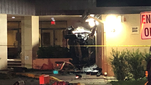 Car crashes into church in Orlando