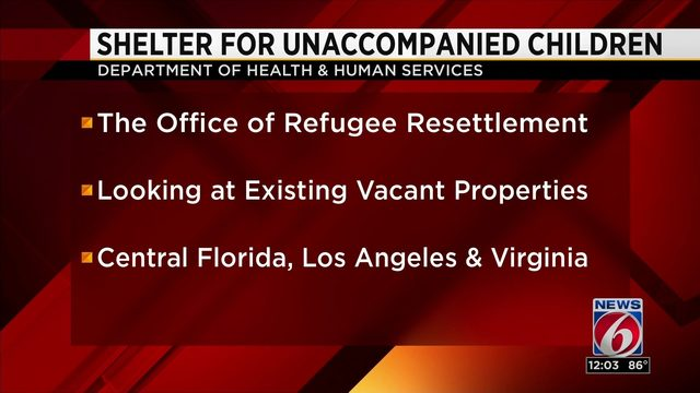 Central Florida may host migrant children on long-term basis