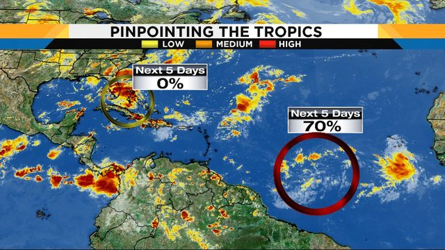 Tropical wave bringing moisture as it approaches Central Florida