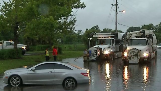 Drivers rescued after heavy rain causes Orange County roads to flood