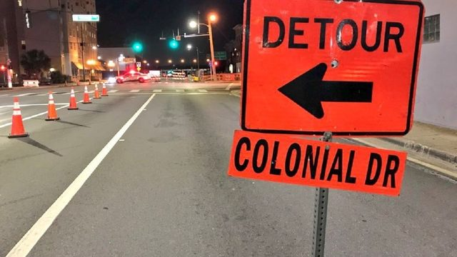 Colonial Drive closing nightly in downtown Orlando