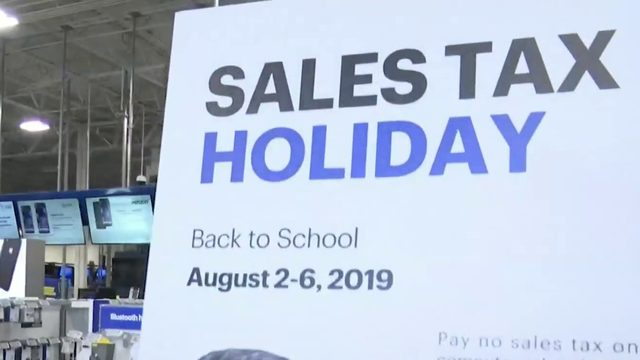 Sales tax holiday almost over