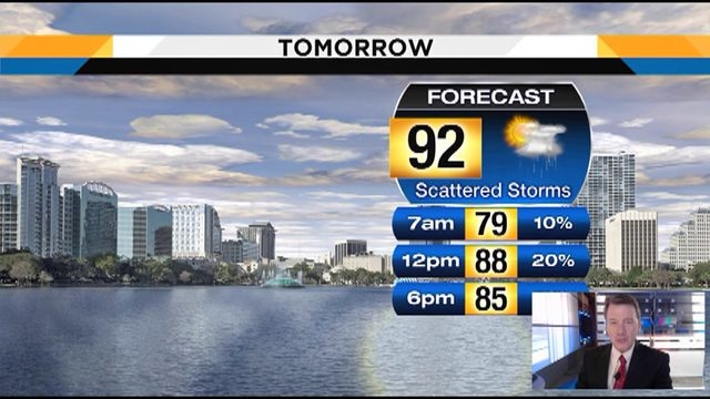 Temps could hit 92 on Tuesday in Central Florida