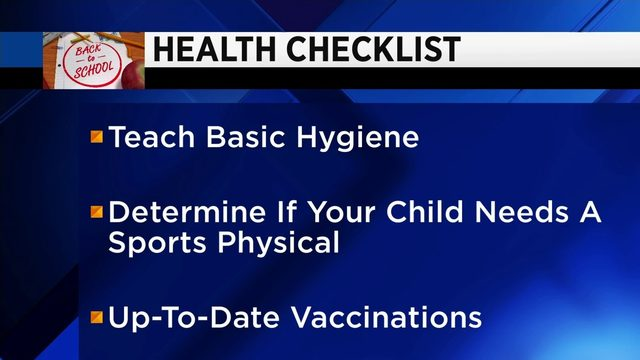 What should be on your back-to-school health checklist
