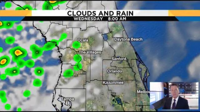 Rain chances high in Central Florida on Wednesday